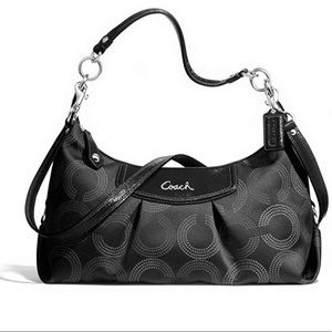 Coach Ashley Dotted Op Art Convertible Hobo